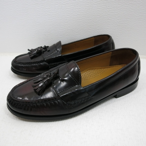 cdf0e3eee89 Cole Haan Other - Cole Haan Burgundy Leather Tassel Loafers 10 D